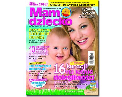 """Magazyn """"mam dziecko"""" z sierpnia 2012"""