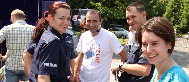 Spotkanie z policjantami w trakcie inspekcji