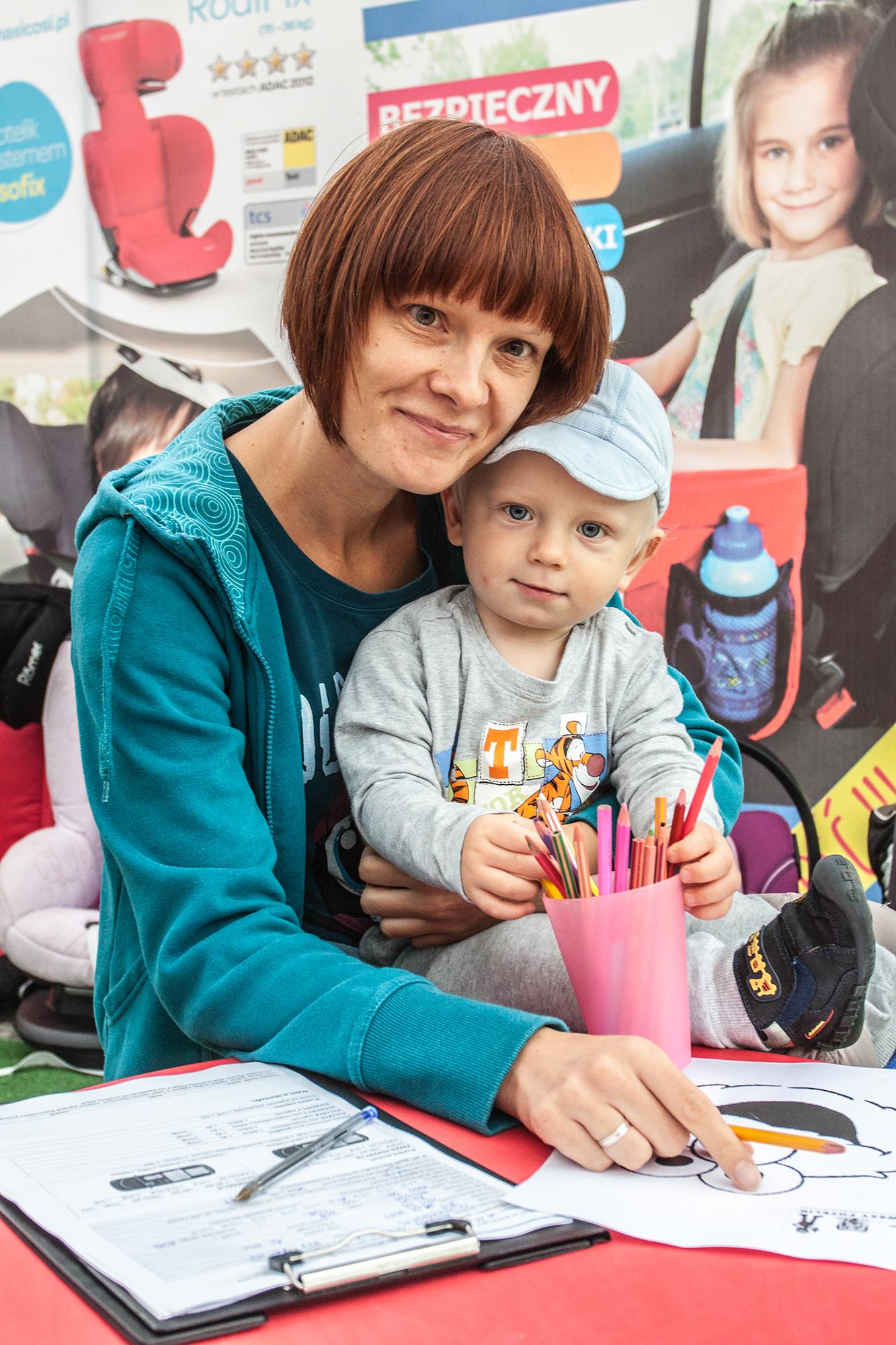 Najmłodsi wraz z mamusiami mogli skorzystać z super-kolorowanek :)