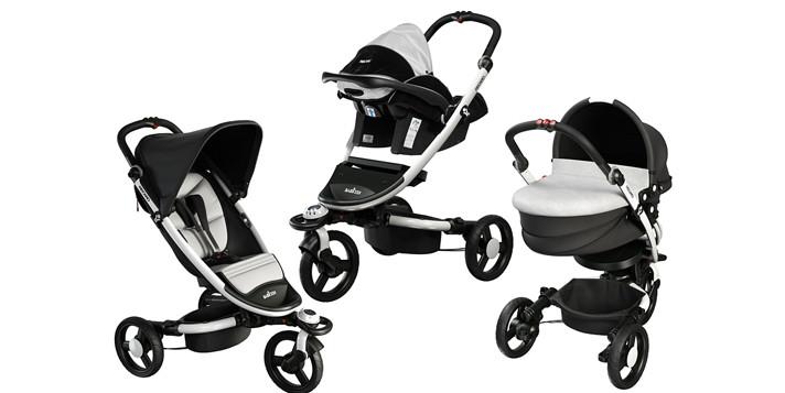 Foteliki dla niemowląt na stelażach wózków