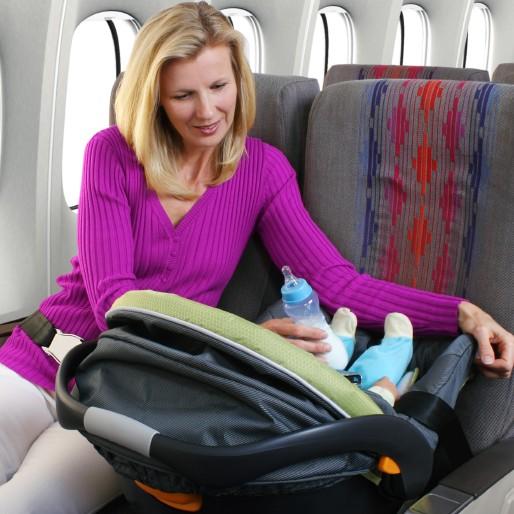 Foteliki samochodowe w samolocie i autobusie