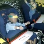 Romer Prince z osłoną tułowia w testach EuroNCAP (VW Passat 2001)