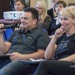 Magdalena i Waldemar Maciuszek, zwycięzcy Mistrzostw Polski Fotelikiada 2012 na 2. Konferencji FPL