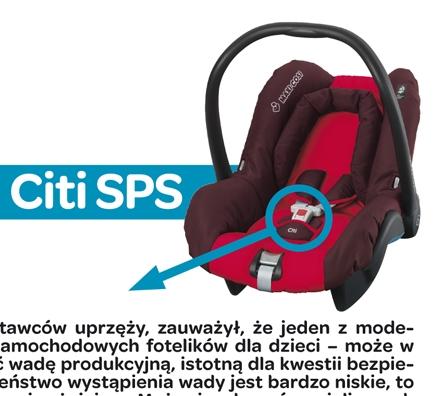 Maxi-Cosi Citi SPS – wezwanie do wymiany wadliwego zamka