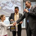 Waldemar Maciuszek przybył na rozdanie nagród wraz z córką.