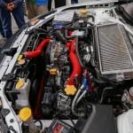 Potężny silnik samochodu Subaru Impreza należącego do Kajetana Kajetanowicza - LOTOS Mistrzowie w pasach