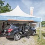 Subaru Import Polska Sp. z o.o.  włączyło się jako wyłączny partner motoryzacyjny w trasę kampanii Ogólnopolskie Inspekcje Fotelików 2014.