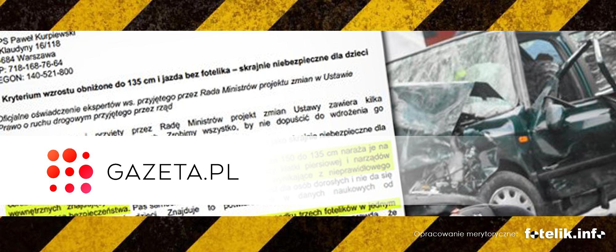 """Gazeta Wyborcza o absurdalnym projekcie rządu: """"135 cm to śmiertelnie niebezpieczny pomysł"""""""