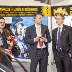 Sławomir Molak, Paweł Kurpiewski i Przemysław Gordziałkowski - przedstawiciel Maxi-Cosi, kluczowego partnera Fotelikiady.