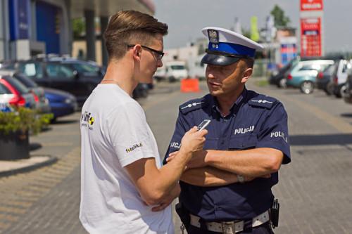 Aspirant Jacek Prokop w rozmowie z Michałem Korejbą