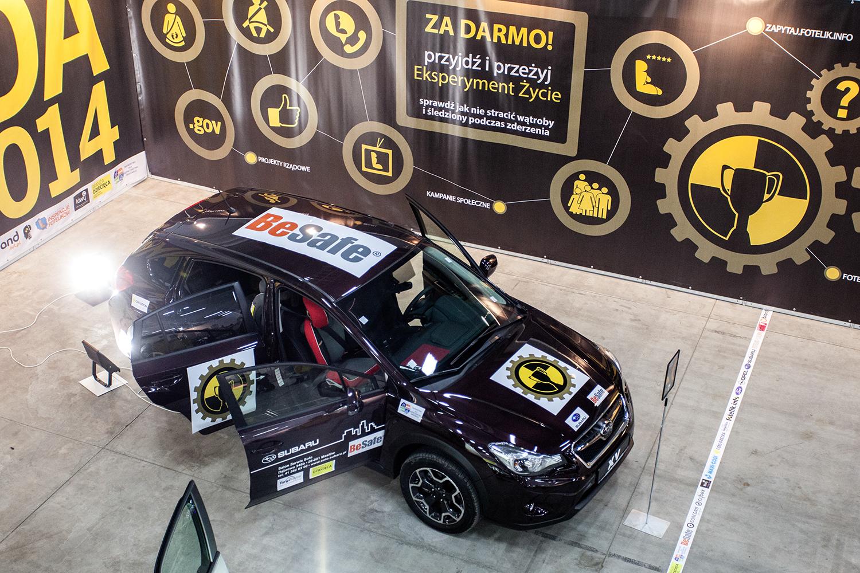Samochód Subaru XV dostarczony przez dealera Solo sp. z o.o. w Kielcach na Targi Czas Dziecka 2014