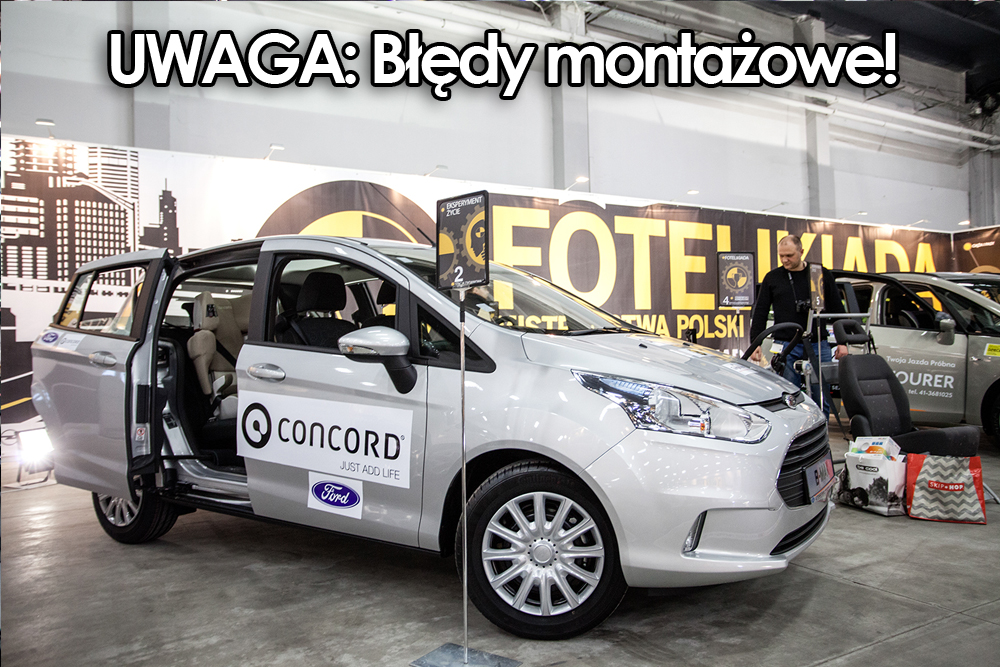 Ford B-Max na stanowisku fotelik.info podczas trwania Fotelikiady 2014