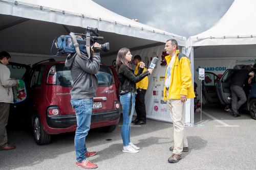 Podczas Ogólnopolskich Inspekcji Fotelików odwiedzają nas media.