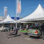 Miasteczko namiotowe Ogólnopolskich Inspekcji Fotelików 2014