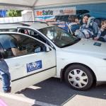 Na trasie Ogólnopolskich Inspekcji Fotelików często pojawiają się media.