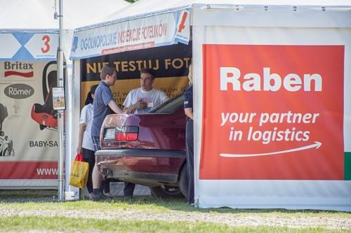 Raben jest jednym z partnerów trasy Ogólnopolskie Inspekcje Fotelików 2014.