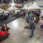 """Pokazy """"135 cm wzrostu i jazda bez fotelika to śmiertelnie niebezpieczny pomysł"""" gromadziły zarówno odwiedzających targi gości i wystawców, jak i media."""